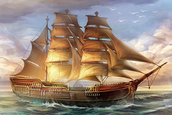 Приятной игры и картинка кораблика
